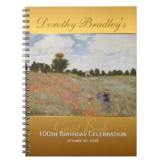100th Birthday Celebration with Monet Guest Book