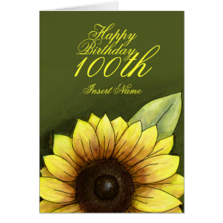 100th Birthday Floral Card