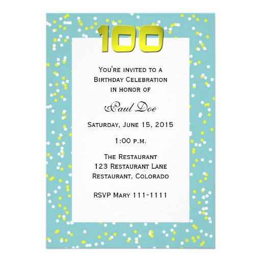 Wording For 100th Birthday Related Keywords Suggestions – 100th Birthday Invitation Wording