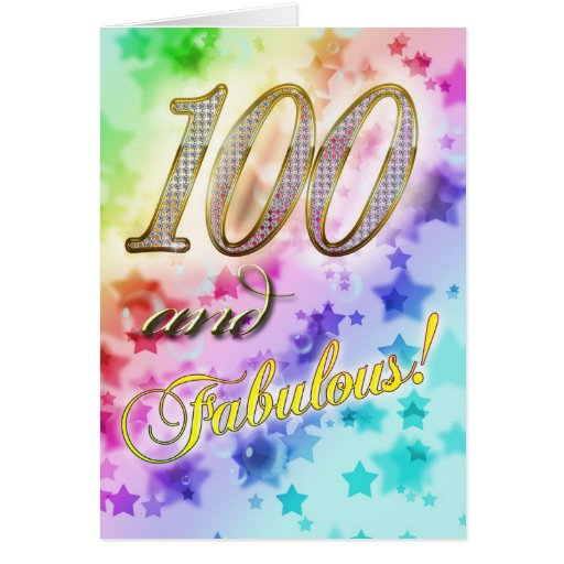 100th Birthday party Invitation Greeting Card