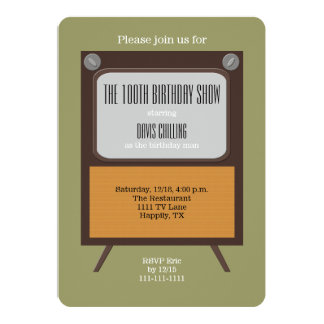 100th Birthday Party Invitation Vintage TV
