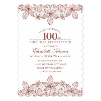 100th birthday party invitations
