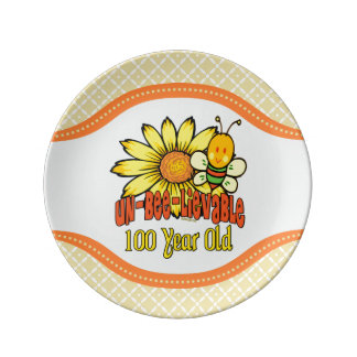 100th Birthday - Unbelievable at 100 Years Old Porcelain Plates