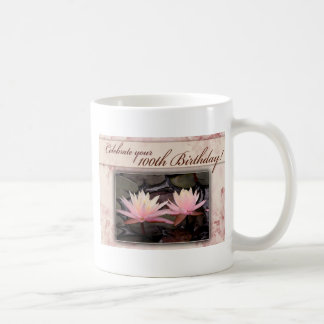 100th Birthday Water Lily Celebration Coffee Mugs