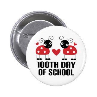 100th Day Of School Ladybug Teacher Gift Pins