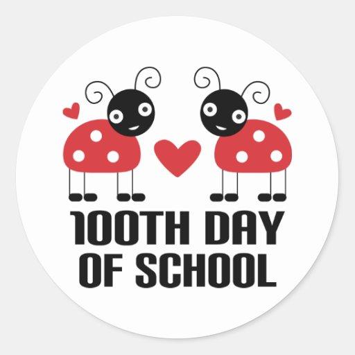 100th Day Of School Ladybug Teacher Gift Stickers