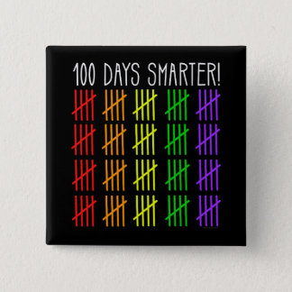 100th Day of School Rainbow Counting Teacher 15 Cm Square Badge