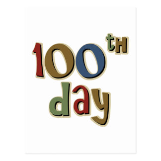 100th Day Postcard