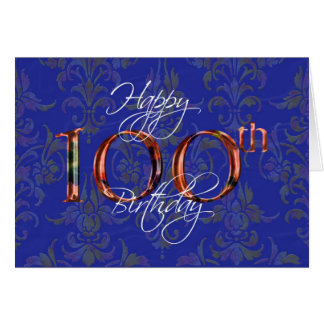 100th happy birthday card