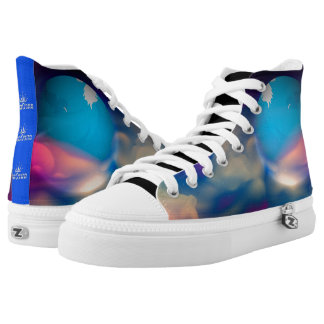 101 Abstract Galaxy's High Tops
