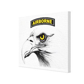 101 airborne canvas screaming eagles canvas print