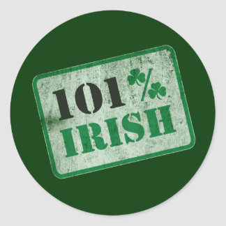 101% Irish - St. Patrick's Day Round Sticker