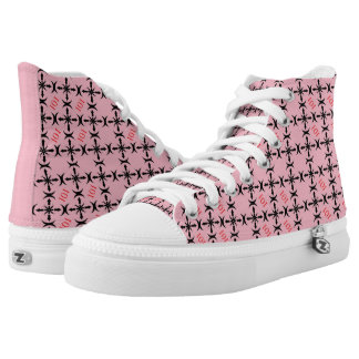 101 Pink Pattern High Tops