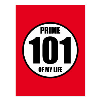 101 - prime of my life postcard