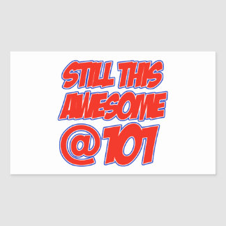 101 year old designs rectangular sticker