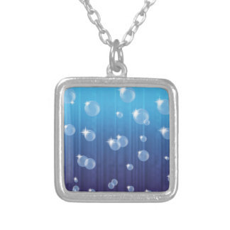 101Bubbles_rasterized Silver Plated Necklace
