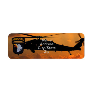 101st ABN airborne division screaming eagles patch Return Address Label