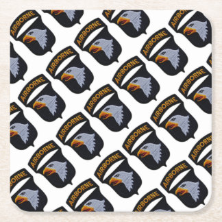 101st ABN Airborne Division Screaming Eagles Vets Square Paper Coaster