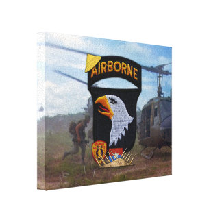 101st ABN airborne division vietnam war vets Canvas Print