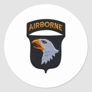 101st ABN Airborne Screaming Eagles Veterans LRRP Classic Round Sticker