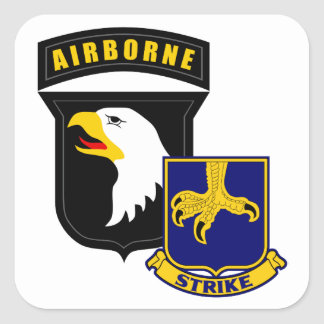101st Airborne 502nd Infantry Square Sticker