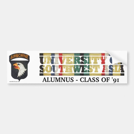 101st Airborne Div. U of Southwest Asia Sticker Bumper Sticker