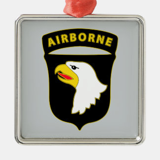 101st Airborne Division - Combat Service Metal Ornament
