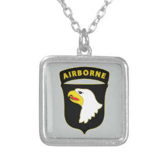 101st Airborne Division - Combat Service Silver Plated Necklace
