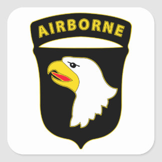 101st Airborne Division - Combat Service Square Sticker