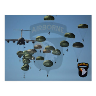 101st airborne division nam patch postcard