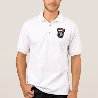 101st airborne division patch screaming eagles polo shirt