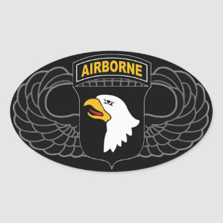 "101st Airborne Division ""Screaming Eagles"" Oval Sticker"