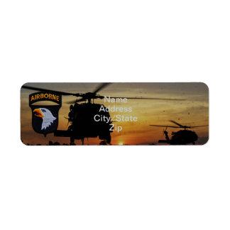 101st airborne division screaming eagles patch return address label