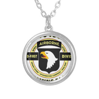 "101ST AIRBORNE DIVISION ""SCREAMING EAGLES"" SILVER PLATED NECKLACE"