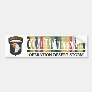 101st Airborne Division SWA Combat Veteran Sticker