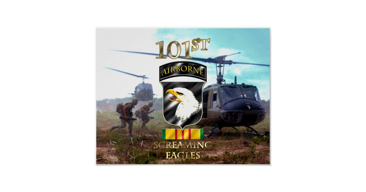 101st Airborne Division Vietnam Veteran v2 Poster | Zazzle com au