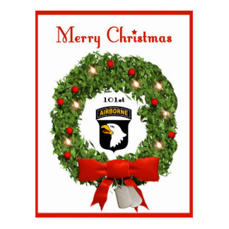101st Airborne Military Christmas Postcard