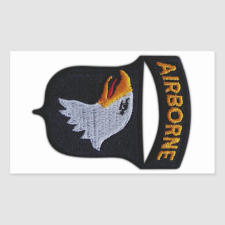 101st Airborne Screaming Eagles Veterans LRRPS Rectangular Sticker