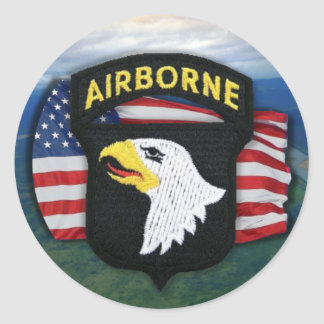 101st airborne vets fort campbell  scrapbooking  S Round Sticker