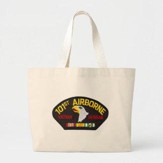101st Airborne Vietnam Veteran Large Tote Bag