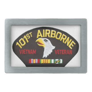 101st Airborne Vietnam Veteran Rectangular Belt Buckle