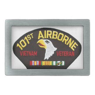 101st Airborne Vietnam Veteran Rectangular Belt Buckle