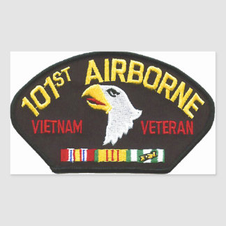 101st Airborne Vietnam Veteran Rectangular Sticker