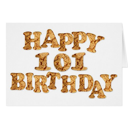 101st Birthday card for a cookie lover