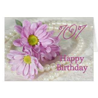 101st Birthday card with daisies