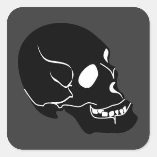 10262006 BLACK DEADLY EMO SKULL GRAPHIC LOGO ICON SQUARE STICKER