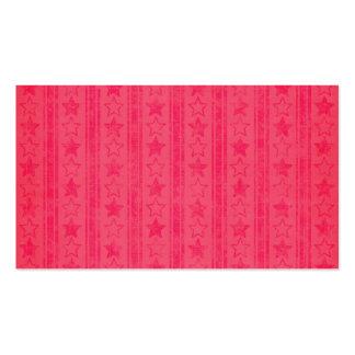 1028 DARK PINK LIGHT RED STARS STRIPES PATTERNS BA BUSINESS CARD TEMPLATE