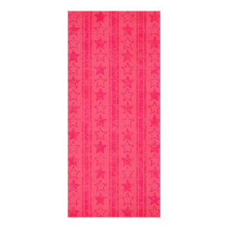 1028 DARK PINK LIGHT RED STARS STRIPES PATTERNS BA CUSTOMIZED RACK CARD