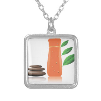 103Shampoo _rasterized Silver Plated Necklace