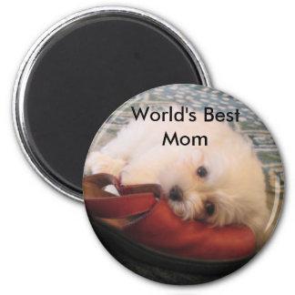 104_0471, World's Best Mom 6 Cm Round Magnet